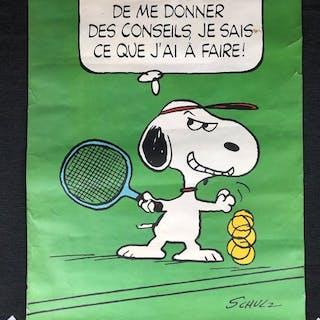 """Schulz Charles - Superbe et ancienne affiche de """"Snoopy"""" - 1958"""