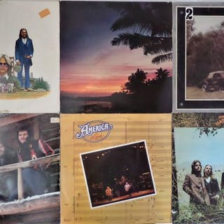 America - six great albums in VG+ condition - LP Album - 1973/1977