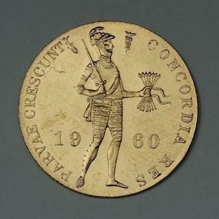 Paesi Bassi - Gouden dukaat 1960 Juliana - Oro