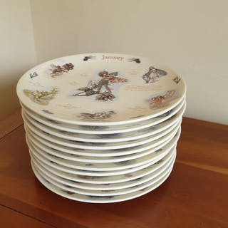 Banbury Mint - Plates, A Calendar of Flower Fairies (12) - Porcelain