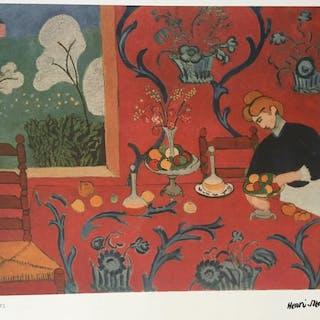 Henri Matisse(d'après) - Harmonie rouge, La desserte ( Paris 1908)
