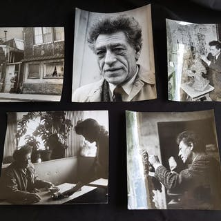 Paul Almasy (1906-2003)/Radial Press - (5x) Alberto Giacometti, c.1960's