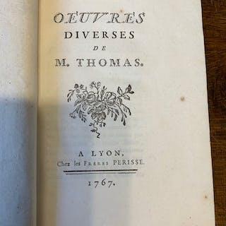 M. Thomas - Oeuvres diverses & Poesies diverses  - 1767