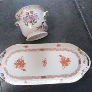 Herend - Servierplatte, Vase - Porzellan