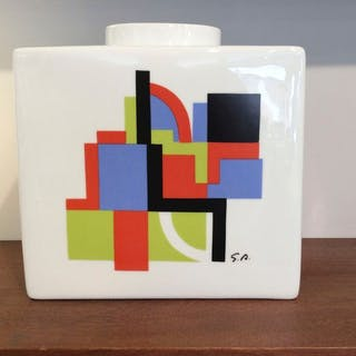 depicting a design by Sonia Delaunay - Artcurial - Vase - Venise (374/900)