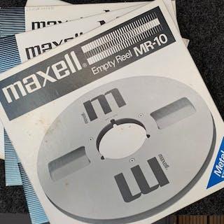MAXELL - 4x Metal reels 26cm - 3x MR-10 empty reels - 1 taped - Metallspulen