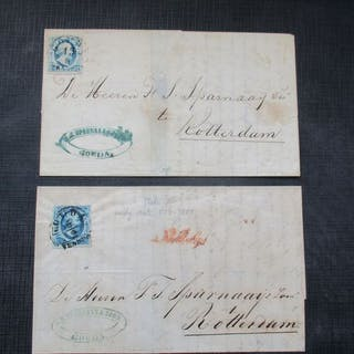 Niederlande 1852 - Four letters with 1st issue - NVPH 1