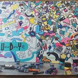 Kev Munday - Things i drew & things i drew on.. - 2015