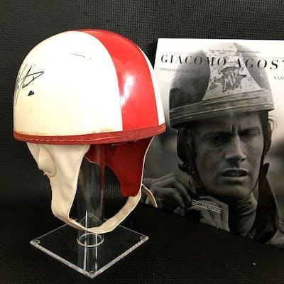 Giacomo Agostini (signed) - Replica AGV helmet + book...