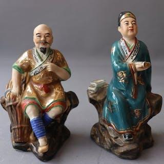 Coppia di figure - Porcellana - Cina - Fine XX secolo