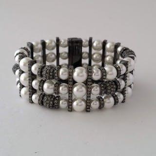 Givenchy Pulsera de cristal de swarovski de perlas de imitación