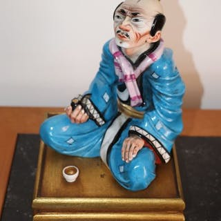 Personnage, Fumeur d'opium (1) - Céramique, Porcelaine