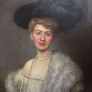 Clara Berkowski (1857-?) - Portrait einer jungen Frau