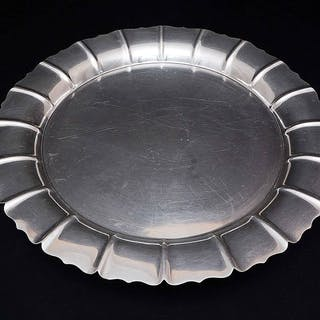 Round, Serving Plate Signed Cartier