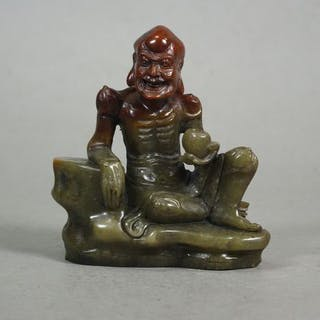 Seated Lohan - Soapstone - China - Second half 20th century
