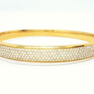 18 kts. Or jaune - Bracelet Diamant