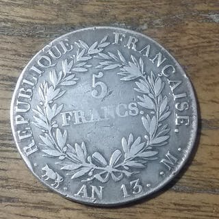Frankreich - Franc AN 13-M (Toulouse) Napoleon - Silber