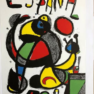 Miro - Advertising poster for the 1982 Football World Cup- 1982