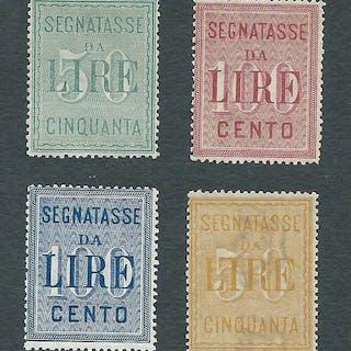 Italia Regno 1884/1903 - 2 Serie segnatasse cifra in...