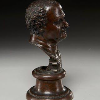 Bust, Cicero (1) - Renaissance - Bronze (patinated) - Late 16th century