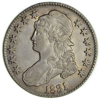 USA - 50 Cents 1831 (Capped Bust) lettered edge