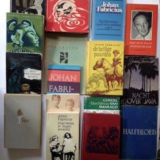Johan Fabricius - Lot met 16 Indische titels (met veel 1e drukken) - 1944/1979