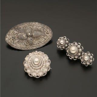 925 Silber - Set, Broschen