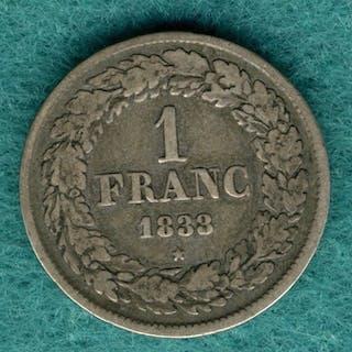 Belgien - 1 Franc 1833 Leopold I. - Silber