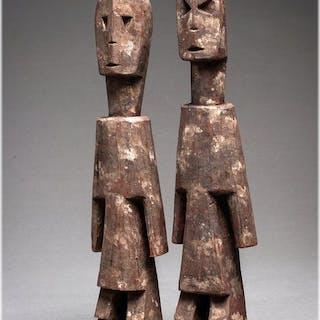 2 Importanti feticci grandi Aklama - Legno - Ada - Ghana