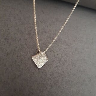 18 kt. White gold - Necklace with pendant Mixed