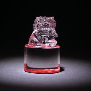 Seal - Rock cystal - Lion - China - Late 20th century
