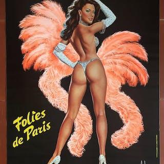 Aslan - Folies Bergère, Folies de Paris, Pin-up - 1970er Jahre