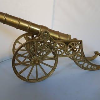 Vereinigtes Königreich - Dekorative Kanone Messing schöne Größe, 40 Zentimeter