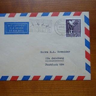 Berlin 1948 - Airbridge Cover with 2 Mark Black Overprint