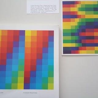 Richard Paul Lohse - Catalogue & signed card - 1985