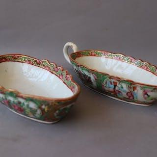 Jitte (2) - Famille verte - Porcelain - China - 19th century