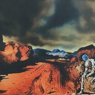 Salvador Dali  - L'homme à la tête d'hortensias bleues