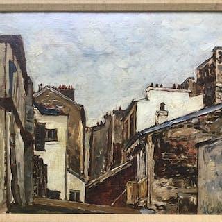 Marcel Francois Leprin (XXe) - derriere le boulevard de saint germain