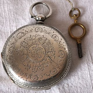 Thomas Russell & Sons Silver Full Hunter Pocket Watch - 114996 - Homme - c1878