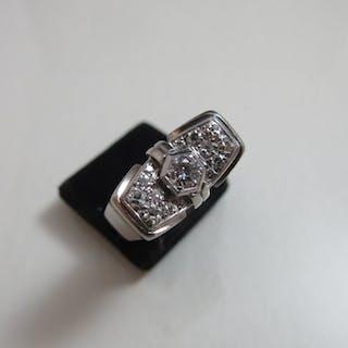 950 Platin - Ring - 0,20 ct, Diamant - Diamant