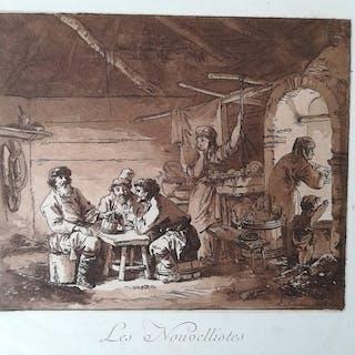 Jean-Baptiste Leprince (French, 1734–1781) -Les nouvellistes