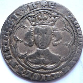 Great Britain - Groat Edward III 1327-1377 series Gg- Silver