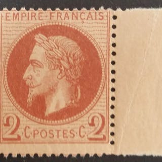 Frankreich 1862 - Napoleon III lauré, 2 centimes red-brown - Yvert 26A