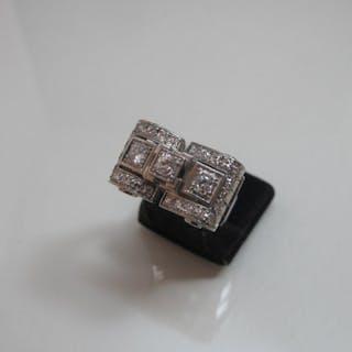 950 Platinum - Ring - 0.55 ct Diamond