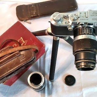 Leica (Leitz) 1934 mit besonderem Hektor + Tasche und Zubehör.