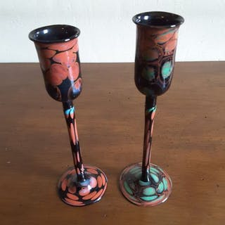 Murano Glass Stefano Morasso signiert 1992 eine Designerbrille - Glas