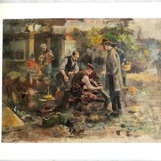 Adriaan (de) la Rivière (1857-1941) Toegeschreven aan- Rommelmarkt