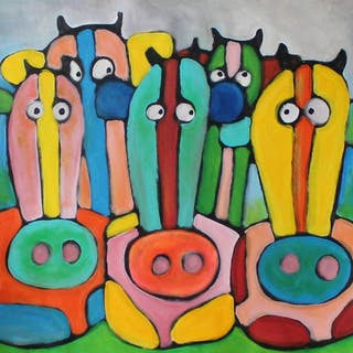Paul Megens - 'Candy cows'