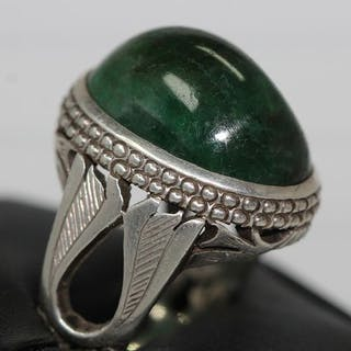 925 Silver - Ring - 35.66 ct Emerald