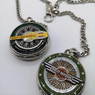 2 Franklin Mint Harley Davidson Taschenuhren - Harley Davidson - 1998-1998